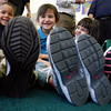 Los Alamos National Laboratory LANL Laces program delivers brand new sports shoes to children participating in the United Way of Santa Fe County?s Santa Fe Children?s Project Pre-Kindergarten classes at Kaune Elementary School in Santa Fe, N.M., on Feb. 24, 2010.   <br /> Natalie Guillén/The New Mexican