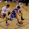 S.F. Indian School Braves vs St. Michael's Horsemen during District 2AAA championship, semifinal winner at Santa Fe Indian School  Francis L Abeyta Memorial Gymnasium on Saturday, February 27, 2010.<br /> Photos by Jane Phillips/The New Mexican