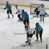A group of male skaters, average age around 50, have been playing hockey together every Sunday afternoon since the Genoveva Chavez Center opened 10 years ago. . With their 10 year anniversary they figure they paid around  $95,000 in ice time and are one of the center's biggest customers.  <br /> Photos by Jane Phillips/The New Mexican