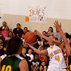 Santa Fe Indian School -vs- Newcomb girls basketball. Game played at SFIS gym on Friday, March 5, 2010.<br /> Santa Fe Indian School was up 20 points at the end of the third quarter.<br /> Photo by Jane Philips/The New Mexican