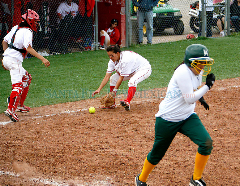 Los Alamos HIgh School won 15-12 during their game against Bernalillo High School on Saturday, April 24, 2010.  Los Alamos will be playing in district.<br /> Photos by Jane Phillips/The New Mexican