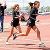 Las Vegas Robertson girls win the 400x100 relay at the Distric 2AAA track meet, held at Santa Fe Indian School in Santa Fe, N.M., on May 1, 2010.<br /> Natalie Guillén/The New Mexican