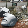 Light snowfall greeted Santa Fe residents Wednesday morning. The forecast calls for two to six inches of possible snow fall possible through the day. <br /> Clyde Mueller/The New Mexican