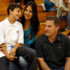Melissa Ainsworth, wife of pojoaque Valley head coach Brian Ainsworth, was diagnosed with breast cancer in august. Photographed in Santa Fe, N.M. on Oct. 27, 2009. NOTE: kid is their son, Justin, 9 yrs old<br /> Natalie Guillen/The New Mexican