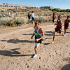 James Viarreal, of Pojoaque High School, leads the boys varsity runners during a cross country meet at Pojoaque High School, on Oct. 30, 2009.<br /> Natalie GuillŽn/The New Mexican