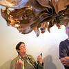Barbara Macks, left, and her husband Paul Macks, both from Santa Fe, take a look at the art hanging at The Community Gallery at the Santa Fe Community Convention Center on Oct. 14, 2009. The Community Gallery has been open for a year now and the City Council will hear an update on how the gallery is doing. Also on the agenda are two election reform measures and an ordinance that will increase sewer rates.           (Luis Sanchez Saturno/The New Mexican)
