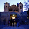 Pilgrims make their way into the Santuario de Chimayo during good Friaday on April, 22, 2011.<br /> <br /> Photo by Luis Sanchez Saturno/The New Mexican