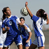 St. Michael's vs. Bosque High School during a girls soccer game on Nov. 6, 2009. The Lady Horsemen won, 3-2, advancing them to the finals on Saturday at 10 a.m.<br />  Natalie GuillŽn/The New Mexican