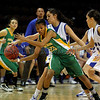 The first quarter of the Pecos High School vs Peñasco High School girls basketball game during the State Girls Basketball Tournament at the Santa Ana Star Center on Mar. 8, 2011.<br /> <br /> Photo by Luis Sánchez Saturno/The New Mexican