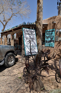 The Turquoise Trail is more than a scenic drive between Santa Fe and Albuquerque. Here, a sampling of the Turquoise Trail's treasures. Cerrillos. The Casa Grande Trading Post, Cerrillos Turquoise Mining Museum & Petting Zoo opened in 1979. As the name suggests, Casa Grande has several personas. The five-room trading post and museum attach to a 23-room home, built with 65,000 adobe bricks that owners Todd and Patricia Brown made themselves. The trading post fireplace is built with rock bearing veins of Cerrillos turquoise. Remnants of the miner's lives are on display at The Old Coal Mine Museum and The Mine Shaft Tavern, which occupy the coal company's headquarters. Visitors can climb into a 1900 Richmond Steam Engine for a close up view of the boiler. Artifacts include antique trucks and fire equipment. A dentist chair and one of the earliest x-ray machines suggest the modernity of the company hospital and heavy pickaxes attest to the strength of the miners. The museum and tavern served as sets for Beer for My Horses and Paul. Set pieces from the Wild Hogs chile festival scene are a recent addition to the museum. Outdoor activities at the south end of the trail include 30 miles of trails on Sandia Peak and golf at Paa-Ko Ridge Golf Club. Tinkertown Museum one of the 10 Wackiest Places in the United States and Fox News listed it among America's Best Little-Known Museums. Clyde Mueller/The New Mexican
