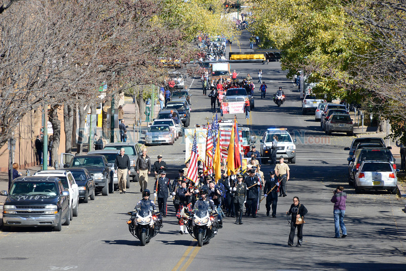 Santa Fe, New Mexico celebrated Veterans Day on Monday November 11, 2013. A parade in downtown honoring Purple Heart recipients that began at 10:30 a.m. at Fire Station #1 and ended at the Santa Fe Veterans' Memorial with a ceremony. Clyde Mueller/The New Mexican