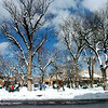 Winter storm hits Santa Fe area, dumps a foot of snow. Activities on and around the Santa Fe Plaza<br /> <br /> Clyde Mueller/The New Mexican<br /> <br /> <br /> <br /> No Published Caption