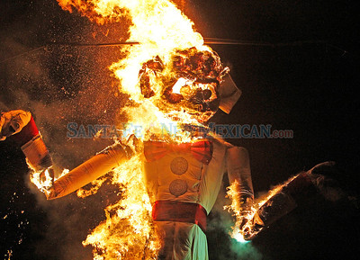 88th annual burning of Old Man Gloom at Fort Marcy Park on Thursday, September 6, 2012.  Jane Phillips/The New Mexican