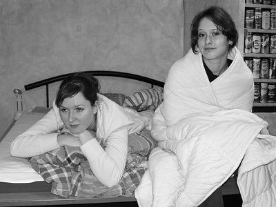 2005-01-22_03729 Es ist kalt in Leipzig. Lisa und Elisabeth