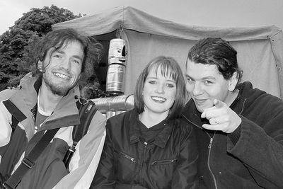 2005-06-11_05140 Wittenberger Stadtfest mit Nora und 2x Sebastian - zur Zeit der Aufnahme war der Met (Honigwein) Pegel noch niedrig