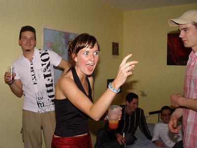 2006-04-28_09558 unsere euphorische Elisabeth bringt Schwung in die Party our euphoric Elisabeth energizes the party