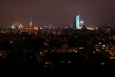 2009-02-22 Leipzig's Skyline from the Fockeberg