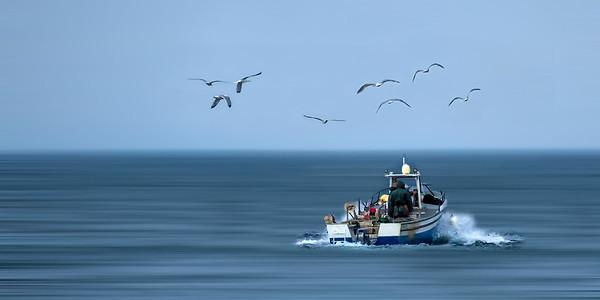 Return from Fishing - Léman - Swiss