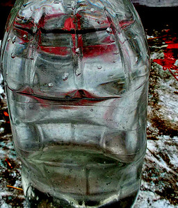 MODELS NEEDED BUT TODAY MY BOTTLE IS LIQUID BUT BY MORNING IT WILL BE ICE.    MAGIC,,,EH?    JAN. 16/17