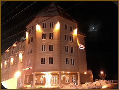 A WINDY CORNER ON SUNDAY NIGHT,,ANGEL IN FRONT OF HOTEL ON THE RIVER.