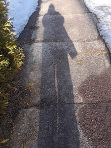 A  March self portrait,,heading for the park,,,errr with iced in benches 19/03/18