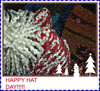 ONE OF MY CROCHET HATS, MADE A PINK , BLUE AND BROWN ONE TOO! ARTHRITIC KNEES PAY OFF,,LOL,,,I SNOWED THE SHOT UP A LITTLE.05/01/17