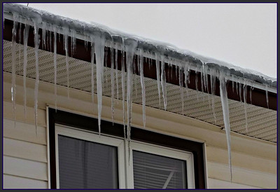 ICICLES ON OUR HOUSE,,,,UPSTAIRS APARTMENT,,,,WE ARE IN THE MIDDLE OF ANOTHER BLIZZARD,,,,,,11/28/18