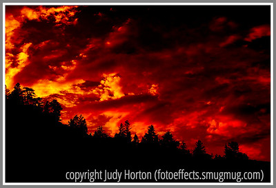 Day 21 - A late evening sky at Spruce Grove in Colorado; the image has been enhanced in Photoshop