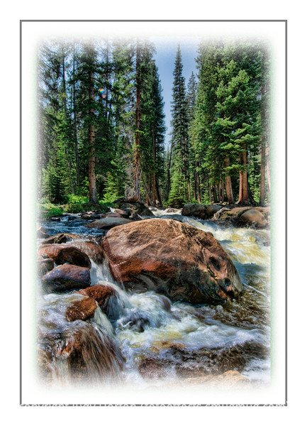 Day 112 - This is a stream near Turquoise Lake, which is near Leadville, Colorado; I took it last summer but just reprocessed it.  We did go to the Great Sand Dunes National Park and came back along the Arkansas River.  I'm working on those shots and will have some up tomorrow.  It was a fun day but exhausting...we drove almost 400 miles.