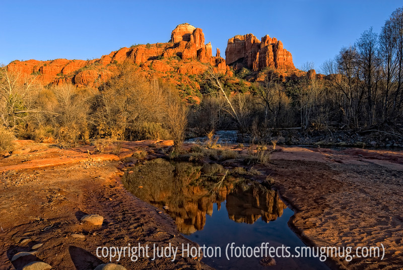 Sedona, Arizona - taken very close to sunset when the red sandstone rocks really glow in the light.<br /> <br /> Thanks to those of you who commented on my shot of the two silhouetted dragonflies on the rosebush.  Take lots of great shots this weekend.