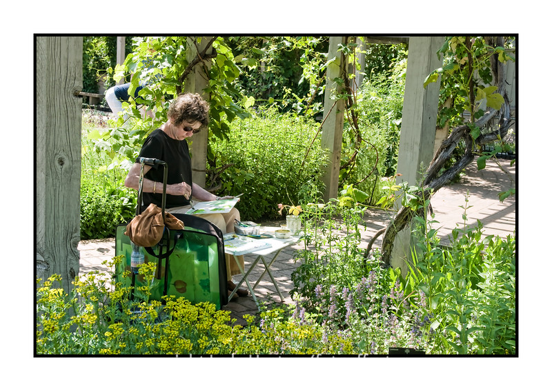 Woman painting with watercolors at the Denver Botanical Garden.  Thanks for all your kind comments on my swallow picture.  Have a great day!