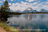 9/14/12 - Jackson Lake, Grand Tetons; best viewed in the largest sizes.  I keep hoping I'll come across one of those wonderful scenes in the mountains with tons of wildflowers in the foreground and it never seems to happen for me.  I thought this foreground was not too bad.  I certainly should not complain about the Grand Tetons because they are so gorgeous in any conditions.  That is fireweed blooming along the edge of the lake.  We saw lots of fireweed blooming in high mountain meadows on the way to the Grand Tetons, but the views were not expansive like this one.<br /> <br /> Thanks so much for your warm response to my shot of Devil's Tower and the hay field.  I can't tell you how many shots I've taken of hay fields and very few have even been worth processing, so it was a treat to find one with something like Devil's Tower in the bg.  The drive from the main highway to Devil's Tower is through lovely agricultural areas...well worth seeing even if there were not Devil's Tower at the end.  Thanks also for your suggestions for improving the sky.  I've actually got a collection of skies that I can use to move into shots with lousy skies and on a couple of occasions, I've even created my own clouds, with mixed results.<br /> <br /> Constructive criticism is always welcome!  Have a great day!