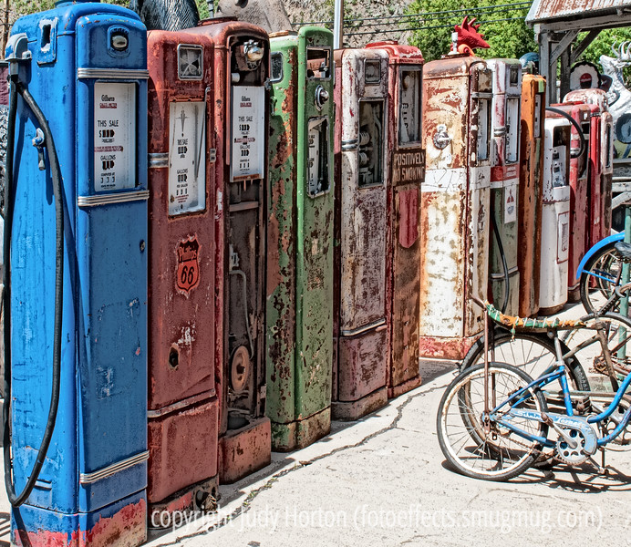 7/9/12 - Old gas pumps outside a Deadwood antique shop.<br /> <br /> Thanks so much for the comments on my shot of Bogie!  Much appreciated!  Have a great week!