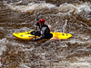 Kayaking the Cache le Poudre River in Colorado at flood stage; best viewed in the larger sizes.  I have other shots of kayakers in which they are hitting bigger water, but I admit to liking this one because of the contrast with the kayak and the water and the way the water is boiling in the shot.<br /> <br /> Thanks for all the comments on my shot of the aspen trunks.  Much appreciated.  Hope you have a great day!