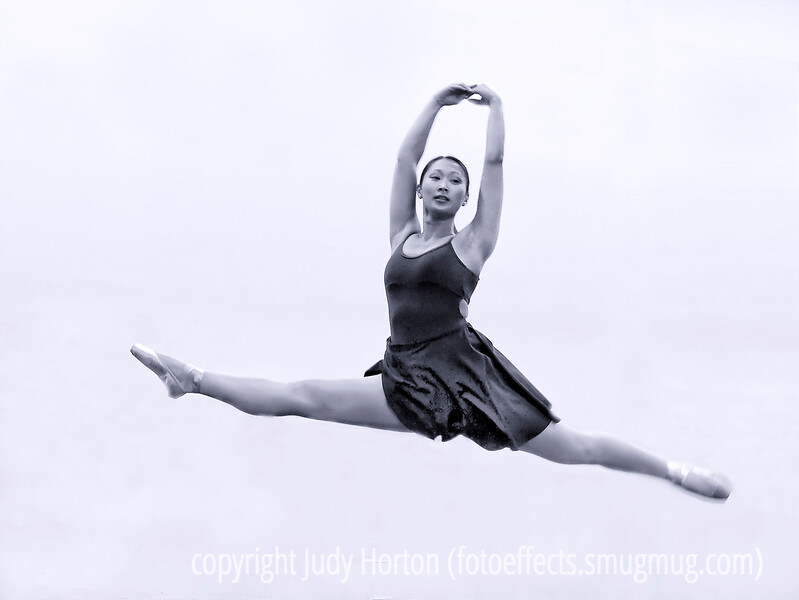 Maggie can fly!  My daughter teaches ballet and gives pilates classes at her own studio in Denver, which is co-located with the Denver Dance Center.  A few weeks ago, the center which has only been in existence for a bit over a year, had its first performance.  Maggie is an young adult who still loves to dance and can, obviously, still perform.  Flash was not allowed during the performance and I sat way over on one side, but I managed to catch this shot of her during one of her leaps.<br /> <br /> Thanks so much for the comments on my latest Grand Canyon shot.  I'm still processing those shots.  I think I have about eight folders of shots and I've processed only about one and a half.  I'm really enjoying it and it is making me think I want to go back to the Grand Canyon and spend more time there.  So many places, so little time...<br /> <br /> Have a grand weekend and Halloween!