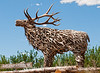 8/2/12 - Antler Sculpture - we visited a little gallery in Dubois, WY which features everything made of antlers or horns of some sort.  The owner said that he finds a lot of the materials himself but also buys some from others.  This was outside the shop and was, by far, the most intricate creation.<br /> <br /> Thanks for all the comments on my shot of the piano player.  You guys always make me feel good!<br /> <br /> Have a great day!