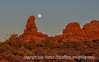 9/30/12 - Rising moon in Arches National Park; best viewed in the largest sizes.  I was finally able to upload this single image.  Since it was nearly dark when I snapped it, the color range is much less than a regular daylight shot would have and, therefore, the file size is much smaller.  We had been in Arches for the sunset, which was a bit of a bust.  I turned around and saw the moon had risen and snapped a number of shots.<br /> <br /> Thanks for your comments on my last year's aspen shot.  Much appreciated.  Hope you are having a good weekend.<br /> <br /> Constructive criticism is always welcome!