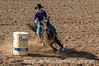 3/1/14 - Barrel racer at the rodeo; I like this photo because the horse is leaning so far over as it navigates around the barrel; lots of dust and clods are being thrown up.  Well worth viewing in the largest size.  Thanks for your comments on my shot of the iron gate at the Gallery of the Sun.