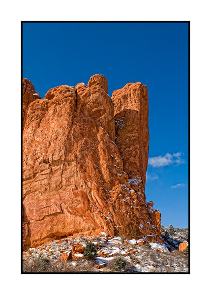 Snow in the Garden of the Gods in Colorado. I think this one is worth looking at in 3x.  Spent the morning there shooting various scenes.  It was very cold but beautiful.<br /> <br /> I'm pooped and going to post this and then hit the sack.  Have a good day, everyone!