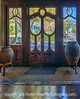 4/9/13 - Looking out the doors of an antiques gallery in Austin.  I really liked the beveled glass in thise doors, their archetectural shapes, and the light on the floor.<br /> <br /> Thanks for your comments on my shot of the grape arbor.  Much appreciated!