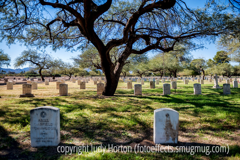 12/4/13 - Veterans graves in a huge cemetery in Tucson.  Thanks for your comments on my shot of the old school bus.  I got a kick out of all the comments about how everyone in that generation had to walk miles to school, and, certainly, that was the story I heard from my parents.