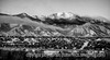 Another shot of Pike's Peak from the hospital window - a black and white version this time.<br /> <br /> Thanks for taking the time to comment on my shot of Centennial park and the water vapor from the power plant.  Much appreciated.  Have a great day!