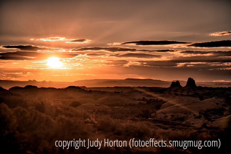 1/1/13 - Sunset in Arches National Park, Utah; best viewed in the larger sizes.  I thought this might be a nice way to start off the New Year.  Happy 2013, everyone!<br /> <br /> Thanks for your comments on the face painting pic.  Much appreciated!