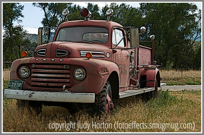 Day 15 - An old firetruck I saw sitting along a Colorado highway.
