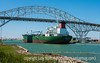 Tanker Going Under Bridge at Corpus Christi