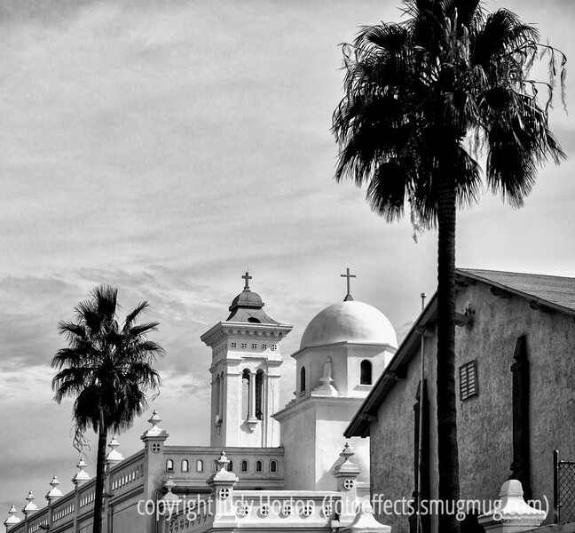 2/3/13 - Monastery in Tucson, the Carmelite Friars of Santa Cruz.   I thought this b/w version had more impact that the color original.<br /> <br /> Thanks so much for making my shot of the lady glassblower the #1 shot for the day.  Quite a surprise!  I'm grateful for your support!
