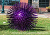 Prickly Purple Ball - this sculpture was outside on the lawn of the Pioneer Museum in Colorado Springs.  There were actually two of them, although not too close together.<br /> <br /> Thanks for the nice comments on my shot of the Air Force Academy Chapel.  Browsing through all the shots on smugmug tonight, I saw some amazing images.  It is so wonderful to get to see shots made by people from all around the world.  It provides such a wonderful perspective on the amazing variety in the world of photography and photographers.  I have a list of places I want to visit that is so long that I'm likely to trip over it.  Thanks for all the superb images!