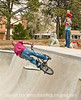 Tricks at the Park - I took this shot at the Colorado Springs Skateboarding Park, where kids and young men were both skateboarding and cycling up, down, and around the course.  This young man was one of the best cyclists at doing the athletic tricks.  Hope your week begins well.