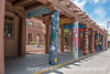 3/28/15 - Museum of Contemporary Indian Art, Santa Fe; we thought the painted poles were very interesting and creative.  This is a small museum but it has some wonderful art!<br /> <br /> Thanks for your comments and best wishes on my birthday!  It was 75 degrees here today...gorgeous!  Tomorrow is going to be even warmer.
