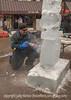 Ice Sculptor at Work in Cripple Creek